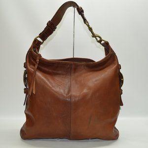 COACH Bleecker Felicia Burnished Leather XL Duffle